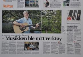 Artikkel om meg og plateutgivelsen i Budstikka eAvis 25.mai